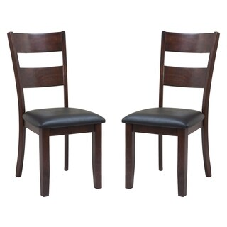 Solid Wood Sturdy Dining Chair / Modern Kitchen Chair, Espresso (Set of 2)