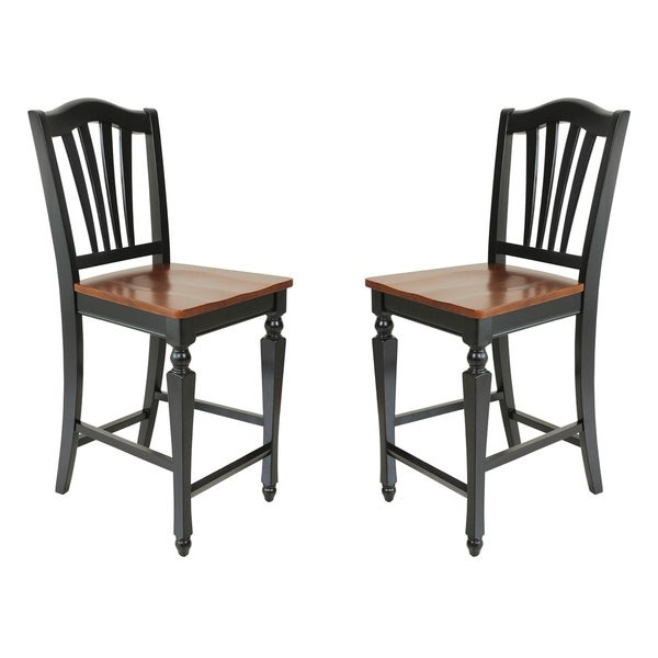 Napoleon Styled Saddle Brown Kitchen Chair: Shop Solid Wood Counter Height Sturdy Dining Chair
