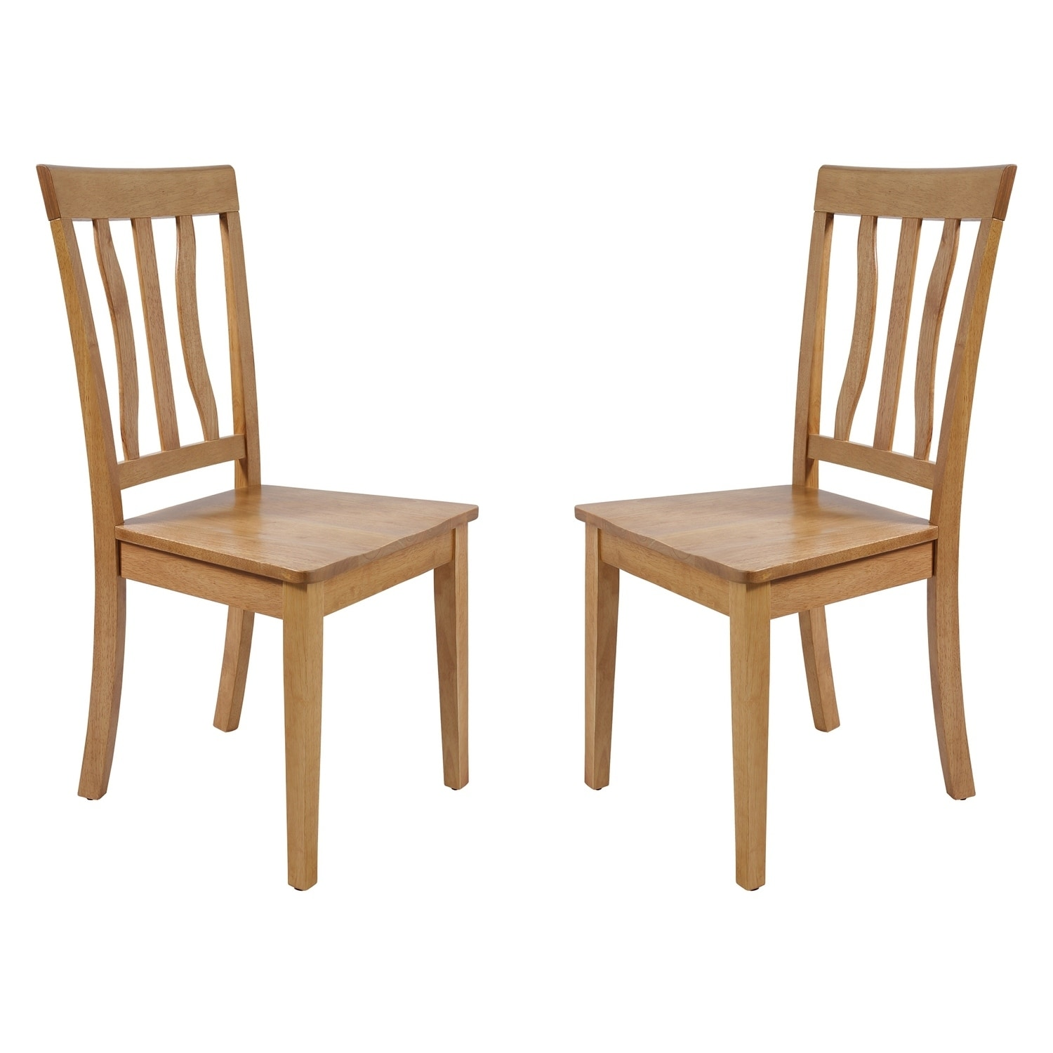 Shop Solid Wood Sturdy Dining Chair Modern Kitchen Chair Oak Set Of 2 Overstock 17853713