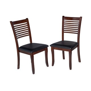 Trendy Solid Wood Dining Chair In Rich Espresso (Set of 2)