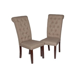 Super Modern Solid Wood Dining Chair In Espresso (Set of 2)