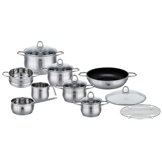 Elo Germany Platin Stainless Steel Induction Cookware Set, 14 Piece