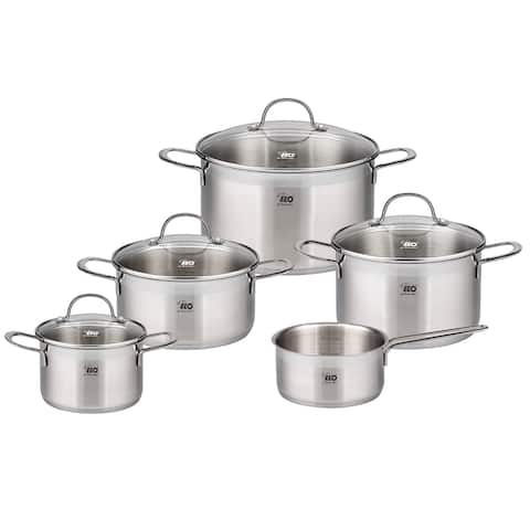Elo Germany Top Collection Stainless Steel Induction Cookware Set, 9 Piece