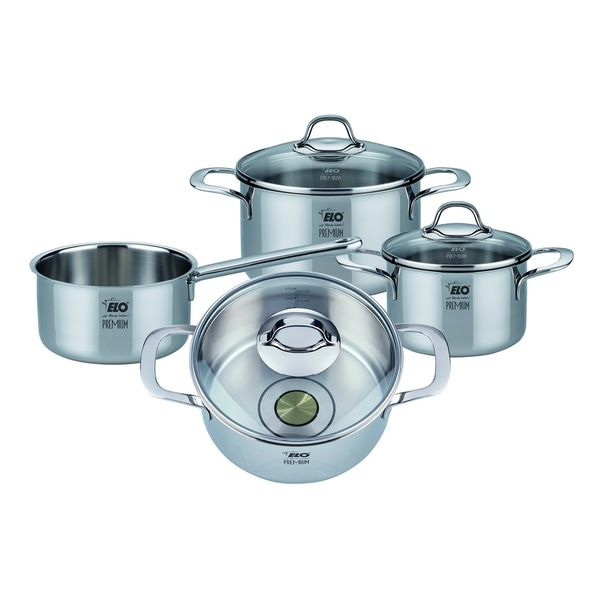 Elo Germany Premium Silicano Plus Stainless Steel Induction Cookware Set, 7 Piece. Opens flyout.