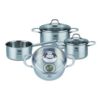 Elo Germany Premium Silicano Plus Stainless Steel Induction Cookware Set, 7 Piece