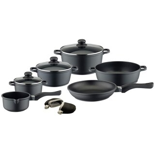 Elo Germany Black Die-Cast Aluminum Non Stick Cookware set, 9 Piece