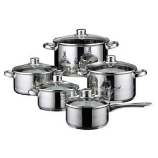 Elo Germany Skyline Stainless Steel Induction Cookware Set, 10 Piece|https://ak1.ostkcdn.com/images/products/17853745/P24041796.jpg?impolicy=medium