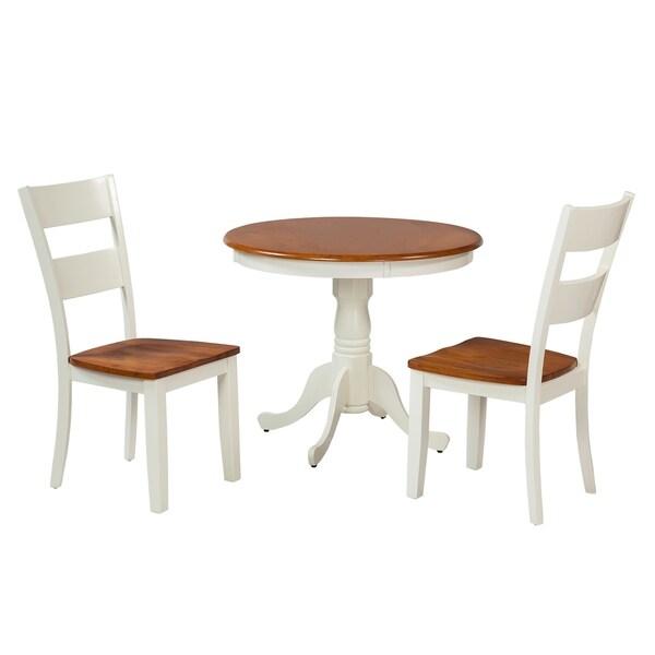 "Shop 3-Piece Solid Wood Dining Set ""Kimberley"", Modern"