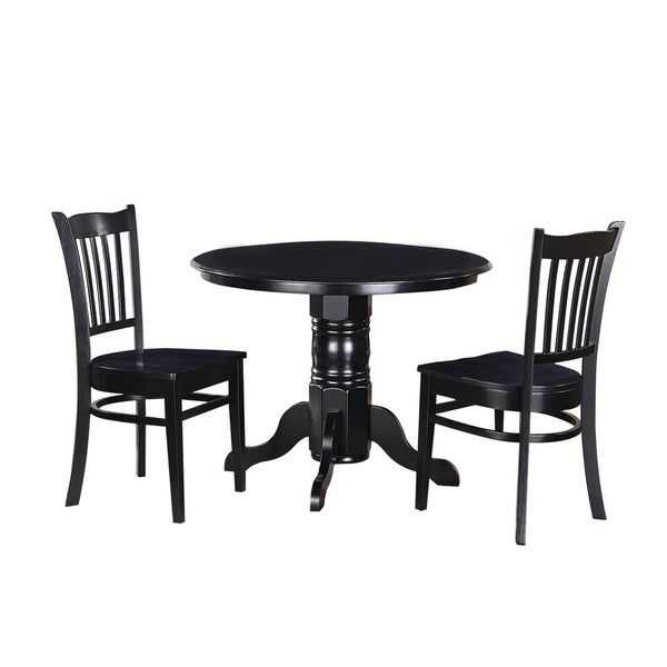 "Solid Wood Kitchen Table Sets: Shop 3-Piece Solid Wood Dining Set ""Morley"", Modern"