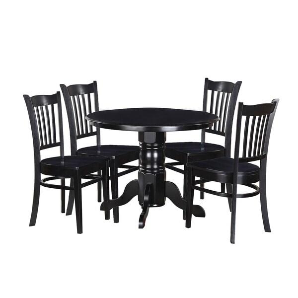 """Black Kitchen Table Set: Shop 5-Piece Solid Wood Dining Set """"Morley"""", Modern"""