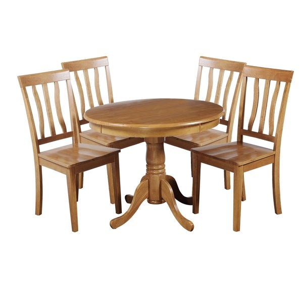 "Solid Wood Kitchen Table Sets: Shop 5-Piece Solid Wood Dining Set ""Kimberley"", Modern"