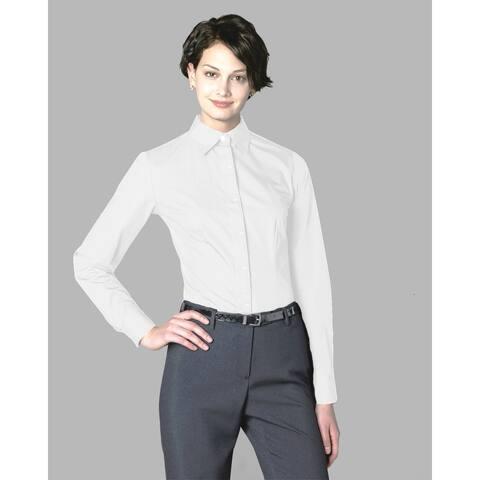 Twin Hill Womens Shirt White Cotton/Poly