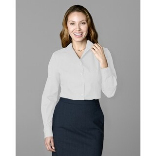 Twin Hill Womens Shirt White Cotton/Poly Wing Collar