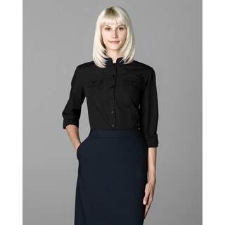Twin Hill Womens Shirt Black Cotton/Poly
