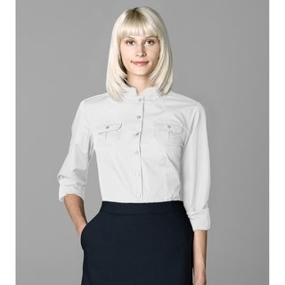 Twin Hill Womens Shirt White Cotton/Poly