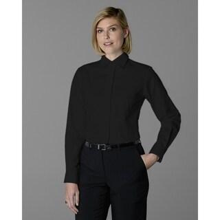 Twin Hill Womens Shirt Black Cotton/Poly