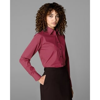 Twin Hill Womens Shirt Wine Cotton/Poly (Option: 4)