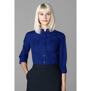 Twin Hill Womens Shirt Cobalt Cotton/Poly (Option: 14) https://ak1.ostkcdn.com/images/products/17853851/P24041885.jpg?impolicy=medium