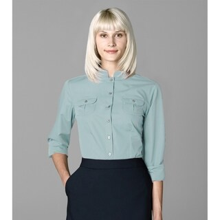 Twin Hill Womens Shirt Teal Haze Cotton/Poly