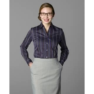 Twin Hill Womens Shirt Purple/Rust Cotton/Poly Stripe (Option: 14) https://ak1.ostkcdn.com/images/products/17853858/P24041886.jpg?impolicy=medium