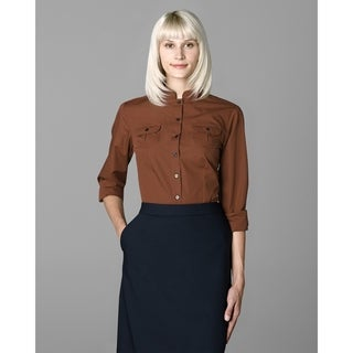 Twin Hill Womens Shirt Rust Cotton/Poly