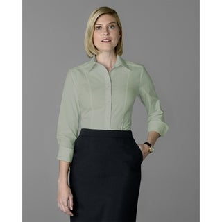 Twin Hill Womens Shirt Celery Cotton Stretch Double Button (Option: 6)
