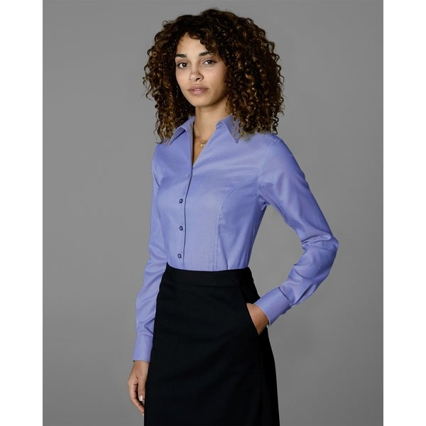 Twin Hill Womens Shirt Lilac 100% Royal Oxford Cotton