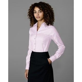 Twin Hill Womens Shirt Navy/Latte Cotton/Poly Stripe