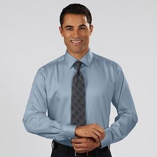Van Heusen Mens Shirt Stream Blue Cotton Stretch
