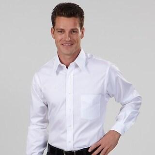 Van Heusen Mens Shirt White Cotton/Poly