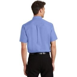 SanMar Mens Shirt Light Blue Poly/Cotton (5 options available)