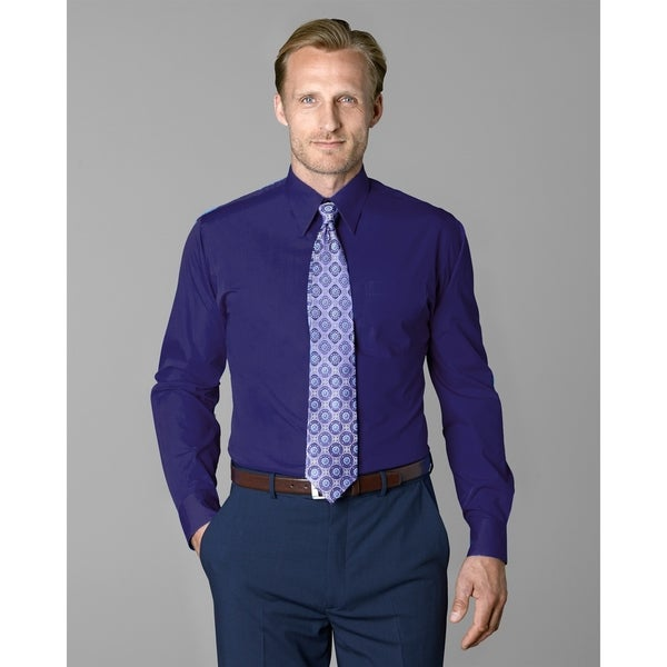 a856adf198063 Twin Hill Mens Shirt Deep Purple Cotton/Poly