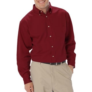 Twin Hill Mens Shirt Burgundy 100% Cotton