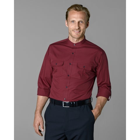 Twin Hill Mens Shirt Wine Cotton/Poly