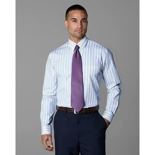 Twin Hill Mens Shirt Plum/Tan Cotton/Poly Stripe|https://ak1.ostkcdn.com/images/products/17853892/P24041924.jpg?impolicy=medium