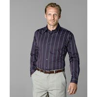 Twin Hill Mens Shirt Purple/Rust Cotton/Poly Stripe