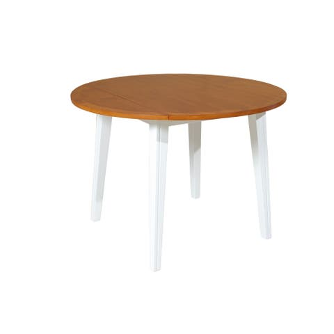 Caroline Dining Table In Oak And White