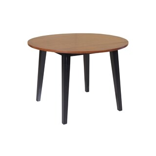 Caroline Dining Table In Light Cherry And Black