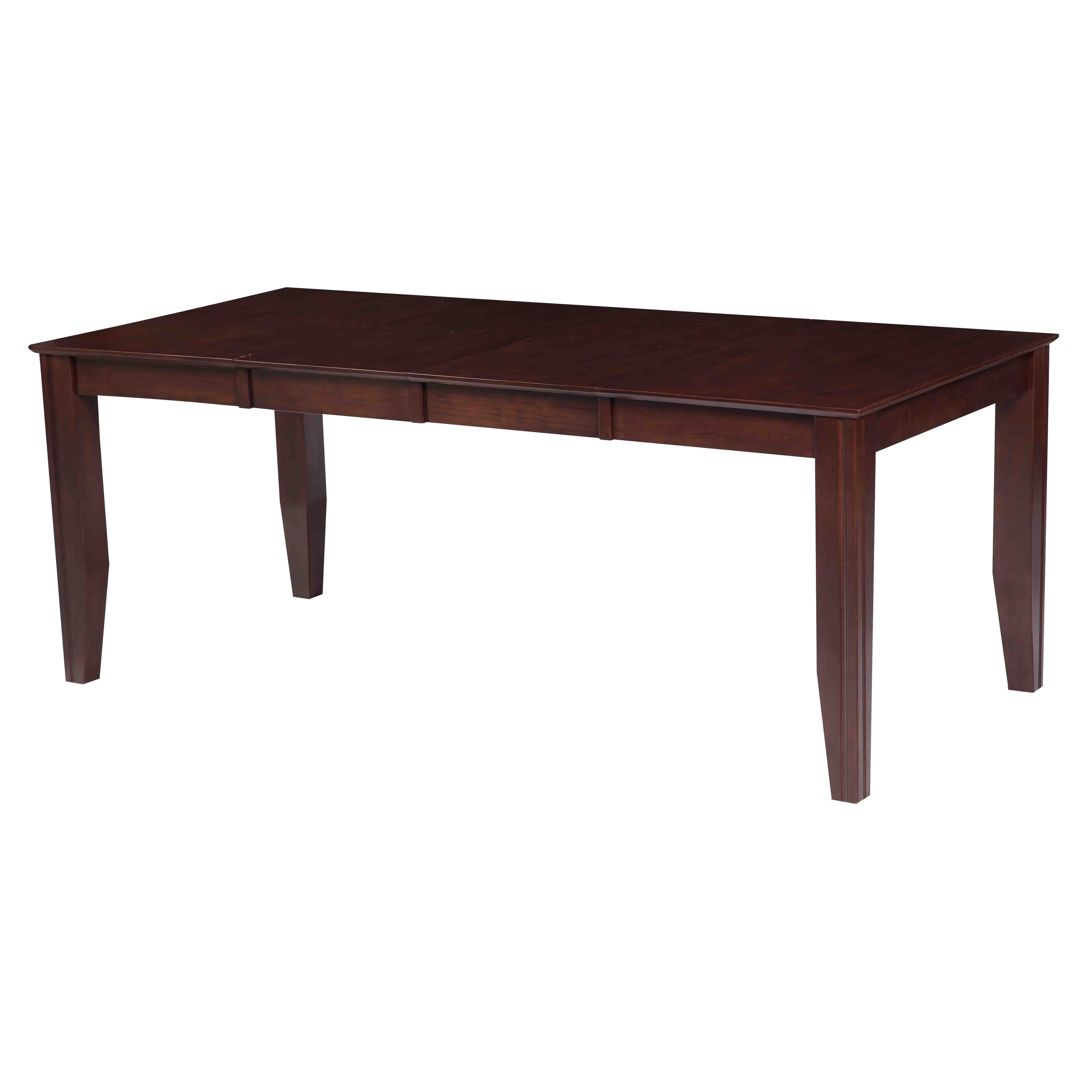 Charlotte Solid Wood Dining Table In Espresso
