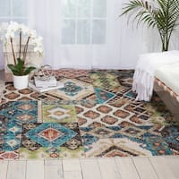 Nourison Aria Traditional Indigo Area Rug - 7'10 x 10'