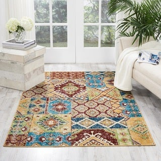 Nourison Aria Traditional Sunset Multicolored Area Rug (3'11 x 5'11)