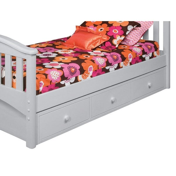 Bolton Bed Accessory Under Bed 3 Drawer Case, Dove Gray