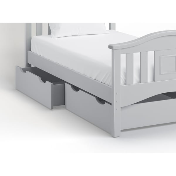 Bolton Bed Accessory Storage Drawer Dove Gray (one drawer)