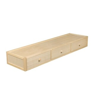 Bolton Bed Accessory Under Bed 3 Drawer Case, Natural