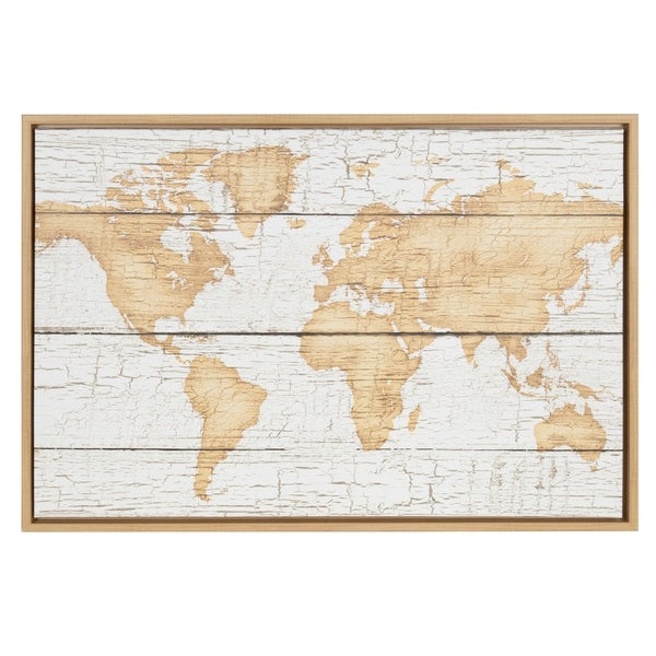 Shop sylvie rustic world map 23x33 natural framed canvas wall art sylvie rustic world map 23x33 natural framed canvas wall art gumiabroncs Choice Image