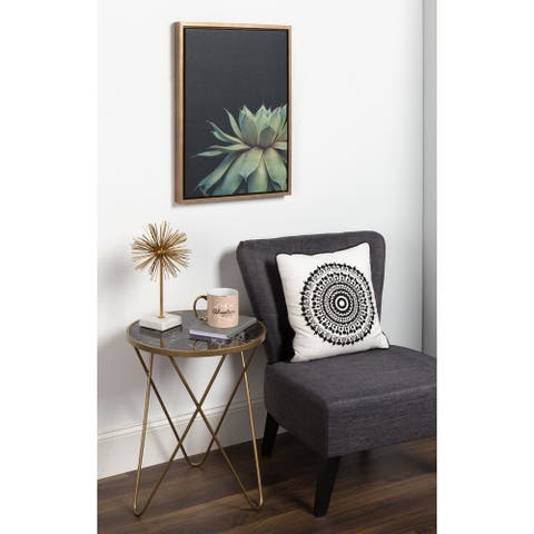 Sylvie Succulent 18x24 Gold Framed Canvas Wall Art by F2 Images