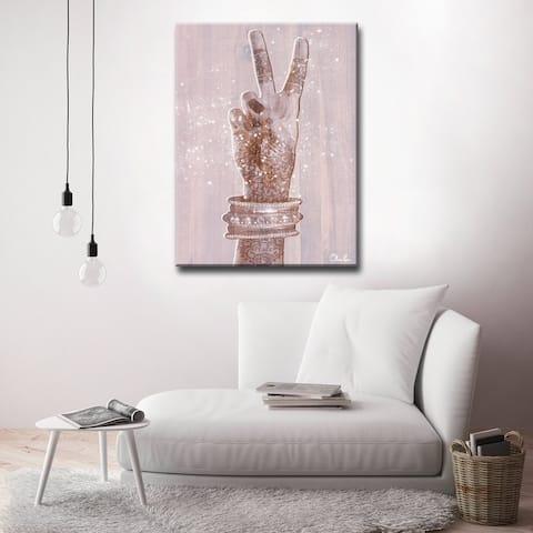 Olivia Rose 'Peace' Inspirational Canvas Art