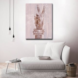 'Peace' Inspirational Canvas Art by Olivia Rose