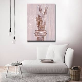 Olivia Rose 'Peace' Inspirational Canvas Art