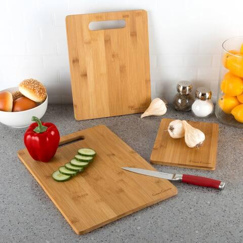 Classic Cuisine 3 Piece Bamboo Cutting Board Set